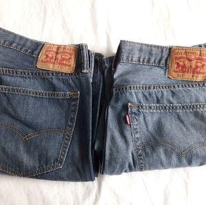 2 pairs used Men's Levi's